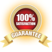 100% satisfaction gurantee logo