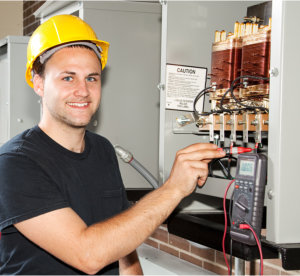 young apprentice electrician